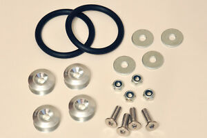 PWD JDM quick release fasteners - SILVER - Drift Race Drag Rally Sprint Bumper