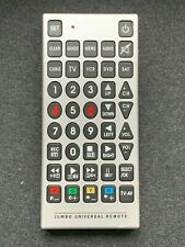 Jumbo Universal Remote Control Suitable for the Elderly and Visually Impaired
