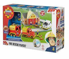 Fireman Sam Fire Rescue Playset NEW 17 Pieces Working Pole, Venus, Ambulance