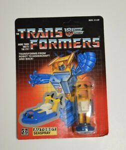 "Vintage1985 Transformers Autobot by Hasbro ""SEASPRAY"" Mint in original packaging"