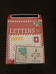 Letters to Santa kit 1 Mailbox 6 Letters & 6 Envelopes