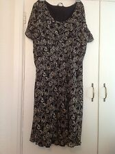 Ladies size 20 posh dress Black Mix. Lined.marks and Spencer