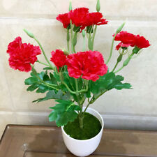 10 Head 35cm Artificial Carnation Rose Silk Flowers Flower Floral Fake Wedding