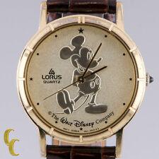 "Lorus Unisex Mickey Mouse Quartz Watch ""The Walt Disney Co"" Gold Dial V811A"