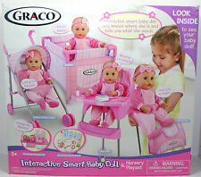 2004 TollyTots Graco Interactive Smart Baby Doll Nursery Playset RARE Talking