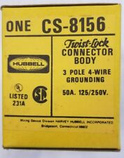 CS8156 HUBBELL 50 AMP CONNECTOR BODY CASE OF 10