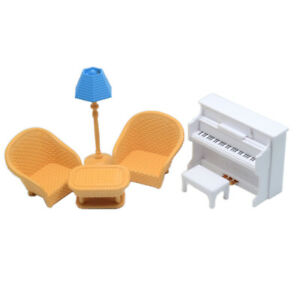 Doll house Miniature Furniture Sofa Piano Table Lamp Pretend Play Toy 1:12