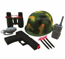 Army Military Camouflage Helmet Accessories Role Play Costume Boys Girls 8pcs