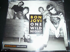 Bon Jovi One Wild Night Australian Exclusive Enhanced CD Single With Live Tracks
