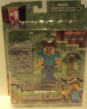 Minecraft Series 1 Overworld Steve Fully Articulated Ages 6+ New in Box