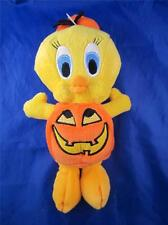 1999 Plush Bean Bag Warner Bros Tweety In a Pumpkin Halloween Costume 8""