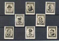 NEDERLAND 1937 ca   8 x  FOTO STAMPS  LUCHTVAART AVIATION   THICK PAPER NO GUM