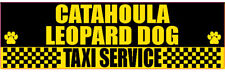 Catahoula Leopard Dog Taxi Service Transport Sticker