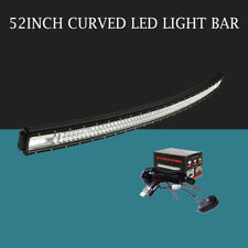Tri-Row Curved 52inch 3132W Led Work Light Bar Combo Driving TRUCK 4WD PK 8D 7D