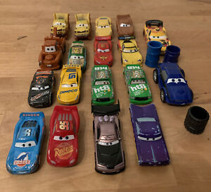 Disney Movie Pixar Cars Toy Diecast Metal  &  Plastic Can Car Lot Of 18