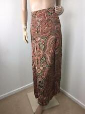 Polyester Paisley Maxi Skirts for Women