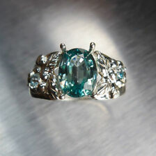 Zircon Engagement Natural Sterling Silver Fine Rings