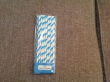 30 Blue and White Straws, Party Straws, Drinking Straws, Paper Straws