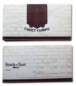 **Legit** Attack on Titan Cadet Corps Authentic Anime Girl Wallet #61886