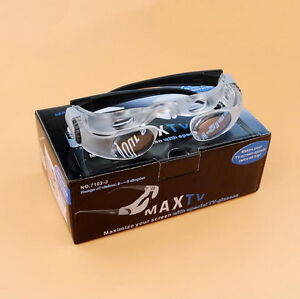 2.1X MaxTV Binocular TV Screen Magnifying Glasses Low Vision Aid Magnifier