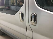 Vauxhall Opel Vivaro 2001-2014 Chrome Door Handle + Rim Cover 4Door S.Steel