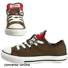 KIDS Boy Girl CONVERSE All Star DOUBLE TONGUE GRAFFITI Trainers Shoes SIZE UK 13