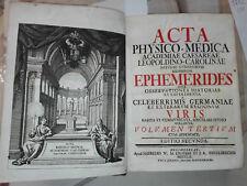 1752 - NORIMBERGA – ACCADEMIA FISICO-MEDICA VOLUME TERZO