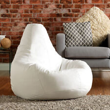 Bean Bag Bazaar Extra Large Gaming Bean Bag Recliner Chair - Faux Leather WHITE
