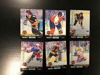 1992 Pinnacle Hockey Team Pinnacle Complete Insert Set 6/6 Wayne Gretzky (Lot 1)