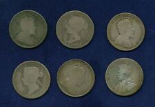 CANADA  QUARTERS / 25 CENTS GROUP LOT OF COINS: 1881, 1901, 1903 (2), 1907, 1928