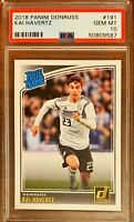 2018 Panini Donruss #191 Kai Havertz RC Rookie Chelsea PSA 10 QTY