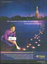 THAI AIRWAYS OUR LEGENDARY SERVICE LIGHTS UP YOUR SPIRITS TO BANGKOK & BEYOND AD