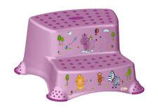 Kinder Tritthocker zweistufig  Hippo lila Hocker Trittschemel Schemel