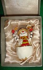 SNOWMAN/CERAMIC~adult~CHRISTMAS/OPENS/CENTER/HOLDING/CUPCAKE/SPOON! BRAND/NEW! @