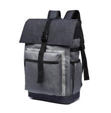 15inch Laptop Rucksack Canvas School Bag Travel Hike Backpack Notebook Knapsack