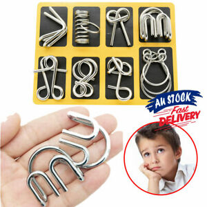 Puzzle Brain Teaser Metal Wire Classic WQ Puzzles Disentanglement IQ Game Toy