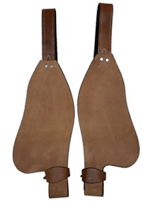 ROUGH OUT REPLACEMENT LEATHER WESTERN FENDERS ROUGHOUT HORSE SADDLE FENDER PAIR