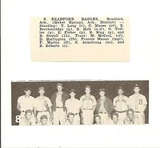 Bradford Eagles Arkansas 1953 Baseball Team Picture