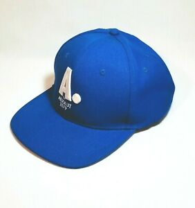Absolut Vodka Ball Cap Trucker Hat Bright Blue Big A 1879 Liquor Breweriana