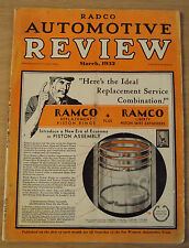 "ORIGINAL 1932 Magazine~""RADCO AUTOMOTIVE REVIEW""~Oakland CA~"