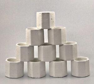 12 Pcs UK White Handmade Empty Jar Pot Container Vessel Votive Candle Wax Making