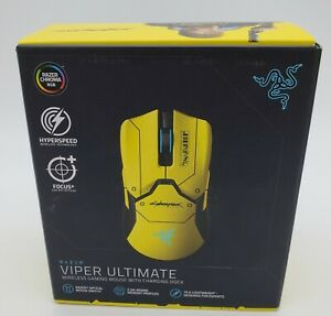 Wireless Gaming Mouse w/ RGB Charging Dock (Yellow)