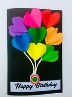 100%  Handmade Quilling  Birthday Card Greeting Cards Invitation with Envelope