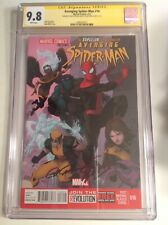 CGC SS 9.8 Avenging Spider-Man #16 signed Stan Lee & Paolo Rivera X-Men Superior