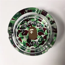 Newly BAPE Camo Clear Crystal Glass Smoking Tobacco Ashtray Holder Home Decor