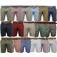 Mens Chino Shorts Threadbare Cotton Oxford Belted Loyalty & Faith Seven Series