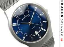 Skagen Watch * 233XLTTN Blue Date Dial Brushed Titanium for Men COD PayPal