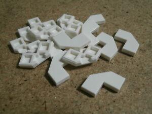 Lego City Star Wars 18 x White Tile Modified Facet 2 x 2 Corner Cut Corner  NEW