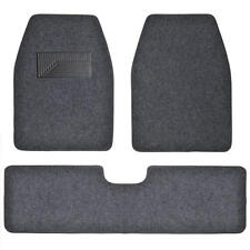 3pc Set Dark Gray Heavy Duty Carpet SUV Van Pickup Car Floor Mats Front Rear Rug