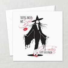 Handmade Bespoke Halloween Card Witch Envelope Husband Partner BOYFRIEND